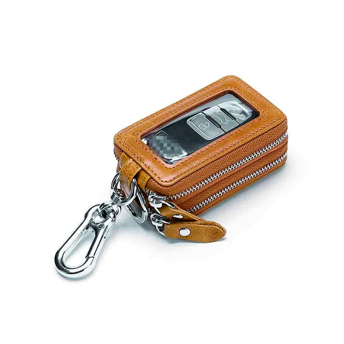 Unisex Key Holder Case Leather Keychain Pouch Bag Car Wallet Key Ring 6A
