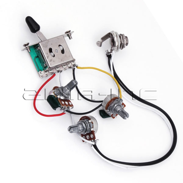 wiring harness prewired with a500k b500k pots for. Black Bedroom Furniture Sets. Home Design Ideas