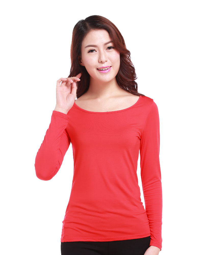Muslim Ladies Tight T Shirt Islamic Women's Long Sleeve Tops Modal ...