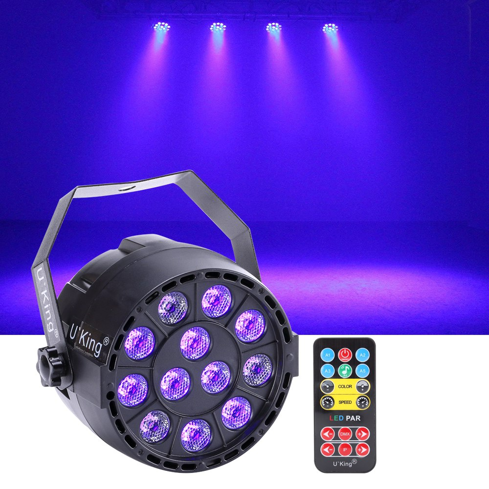 Details About 36w 12 Led Black Light Purple Par Can Stage Lighting Disco Theater Club Dj Show