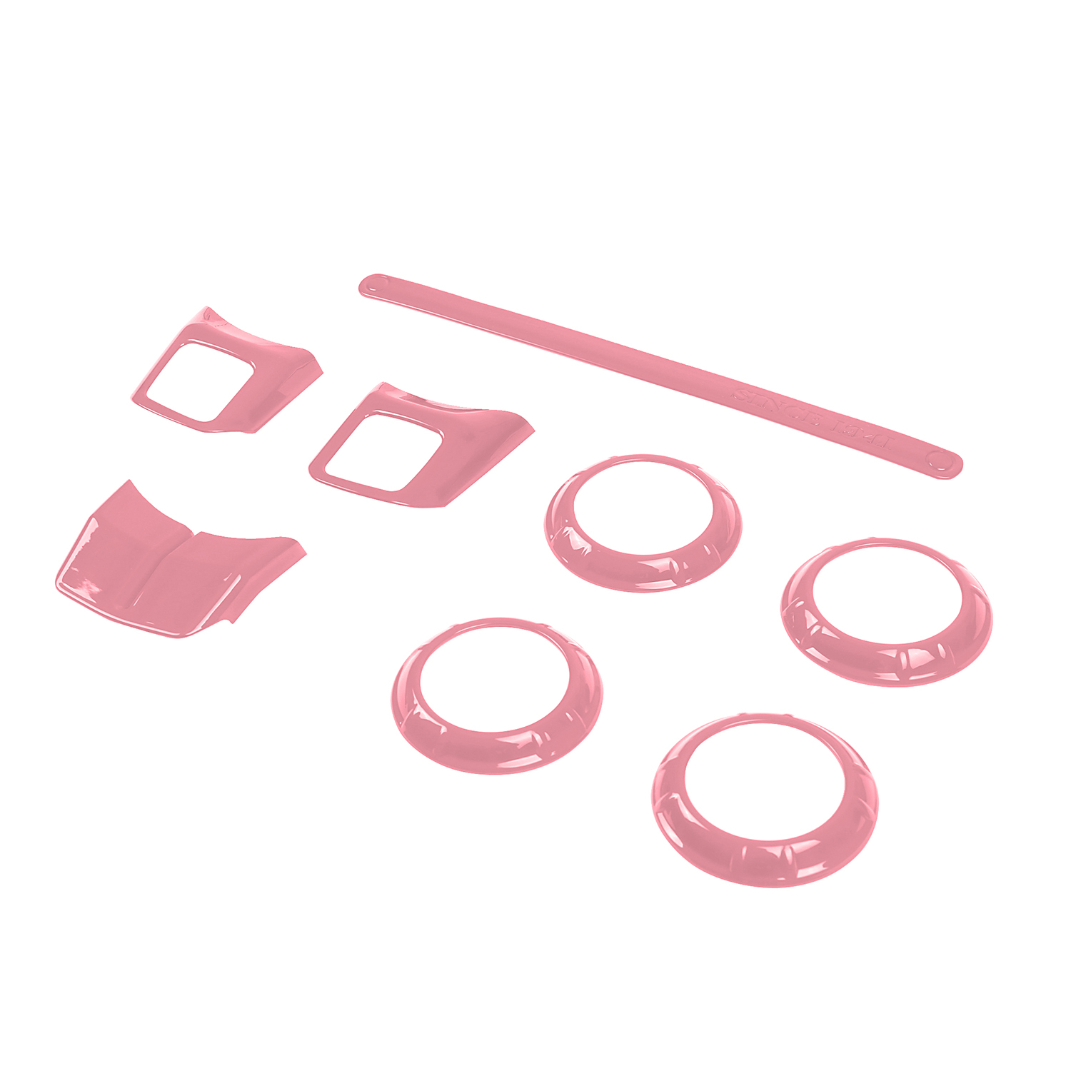 8pcs pink abs air conditioning vent cover trim kit for jeep