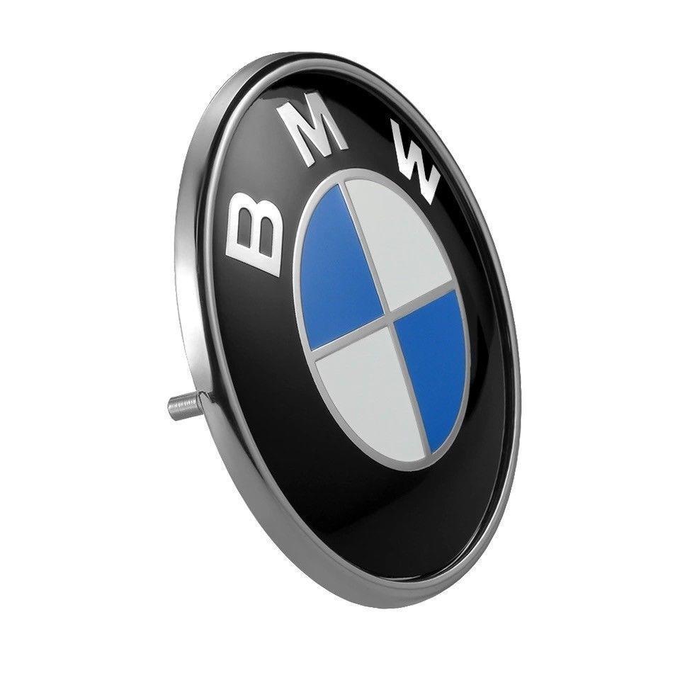 replacemen bmw car emblem chrome front badge logo 82mm 2. Black Bedroom Furniture Sets. Home Design Ideas