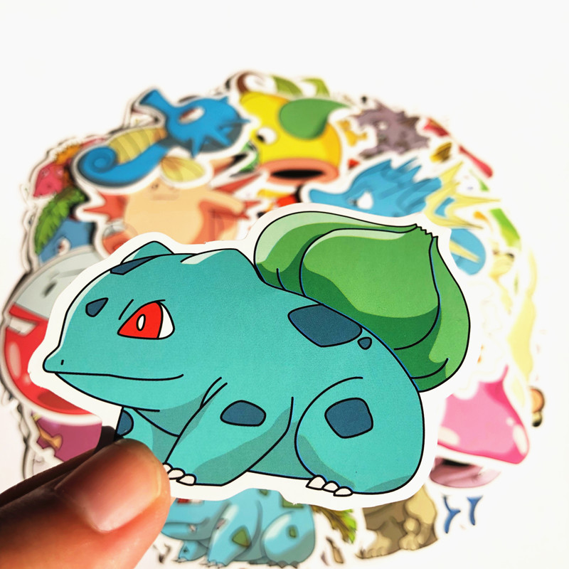 95PC//lot Anime Pokemon Stickers All Pikachu Laptop Luggage Decals Stickers