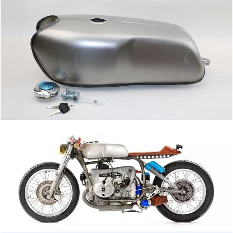 2.4 gallon cafe racer gas fuel tank universal custom tank for