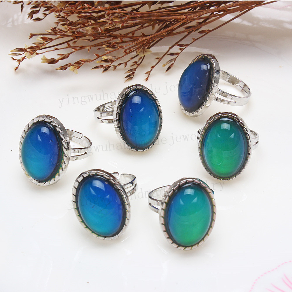 New Wholesale mixed Lots 5pcs colorful big resin lady/'s Silver Tone Rings FREE