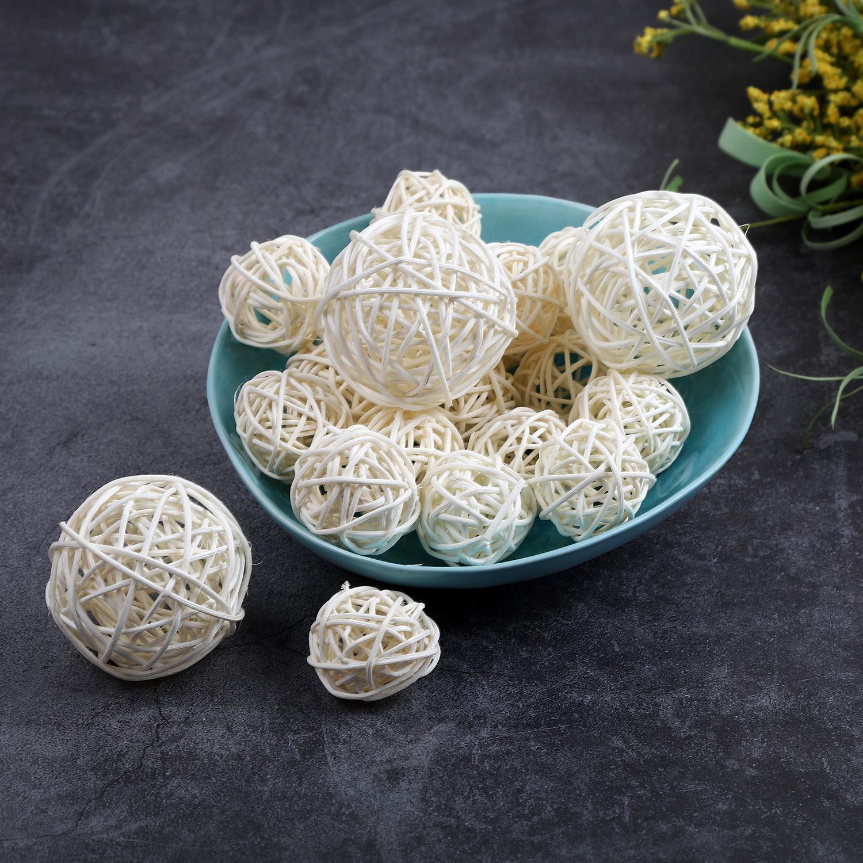 18 Pcs Wicker Rattan Balls Ornament Gift Wedding Party Decoration 2.8OZ