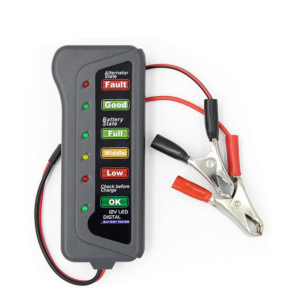 Details about 12V Car Digital Battery Load Tester 6 LED Alternator  Motorcycle Vehicle Display