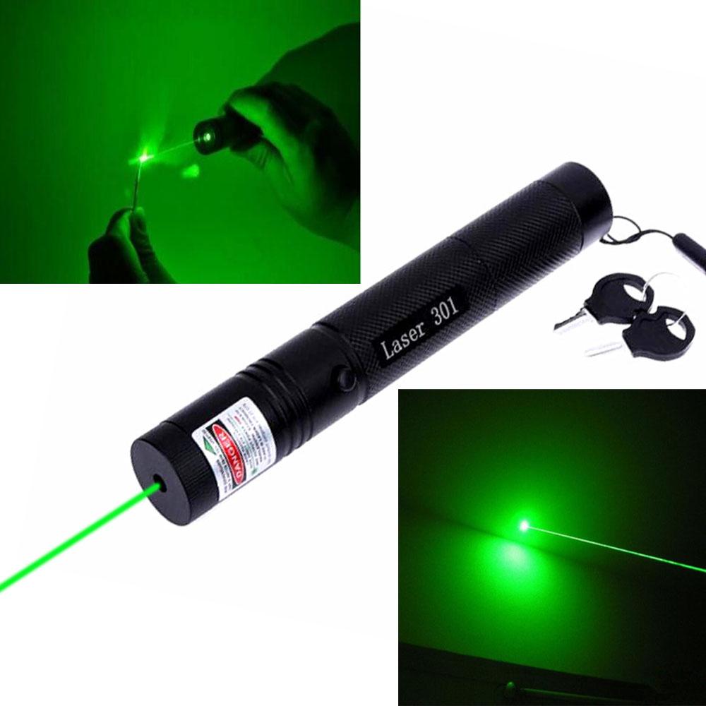 532nm 301 Green Laser Pointer Pen Lazer Visible Beam Light High Power 10000m