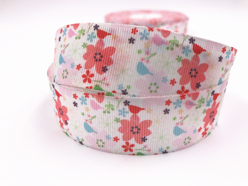 5 Yard 1/'/' 25MM Mermaid gifts Printed Grosgrain Ribbon Hair Bow Sewing Ribbon