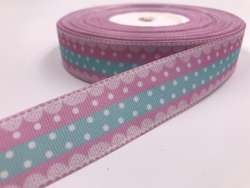1-10 Yard 1/'/' Rainbow Animals Printed Grosgrain Ribbon Hair Bow Sewing Ribbon