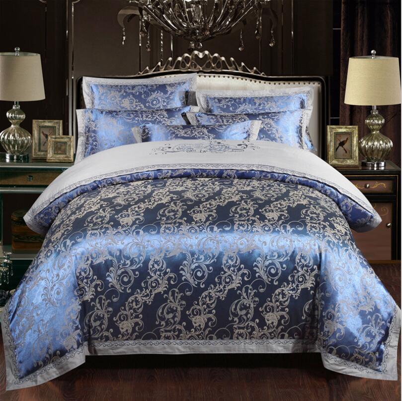 Royal-Luxury-Silk-Cotton-Duvet-Cover-Bedding-Sets-Ferrero-blue-grey-bed-linen