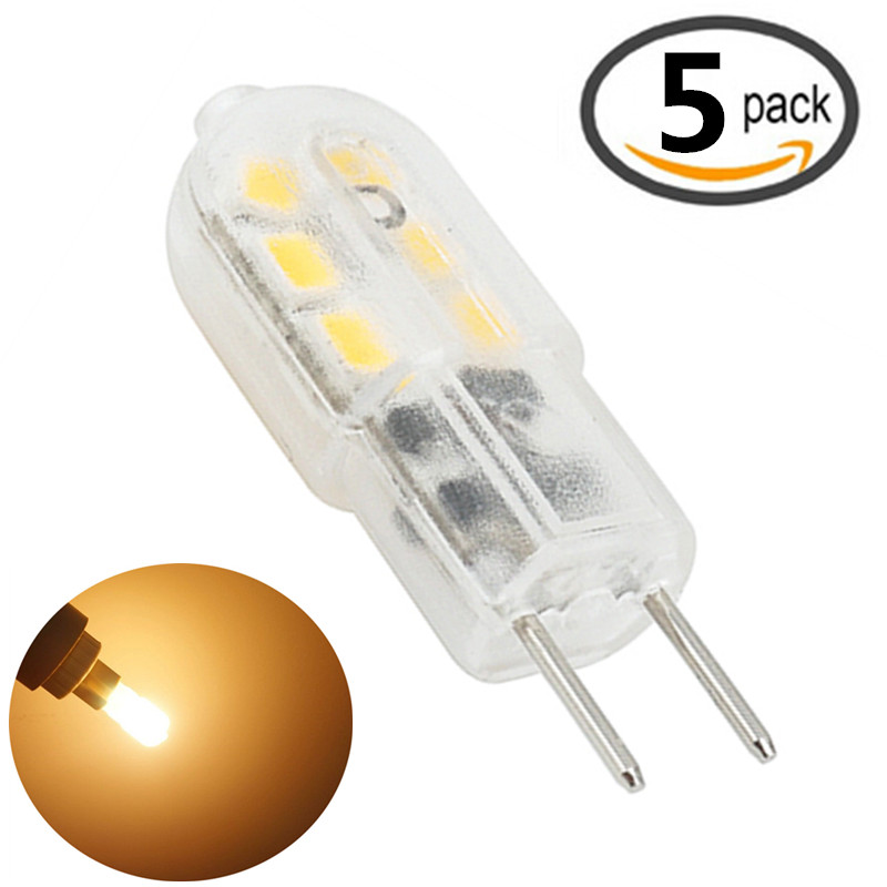 Details About 5 Pack 12v 3w G6 35 Led Light Bulb Bi Pin Jc Type 20w Halogen Replacement