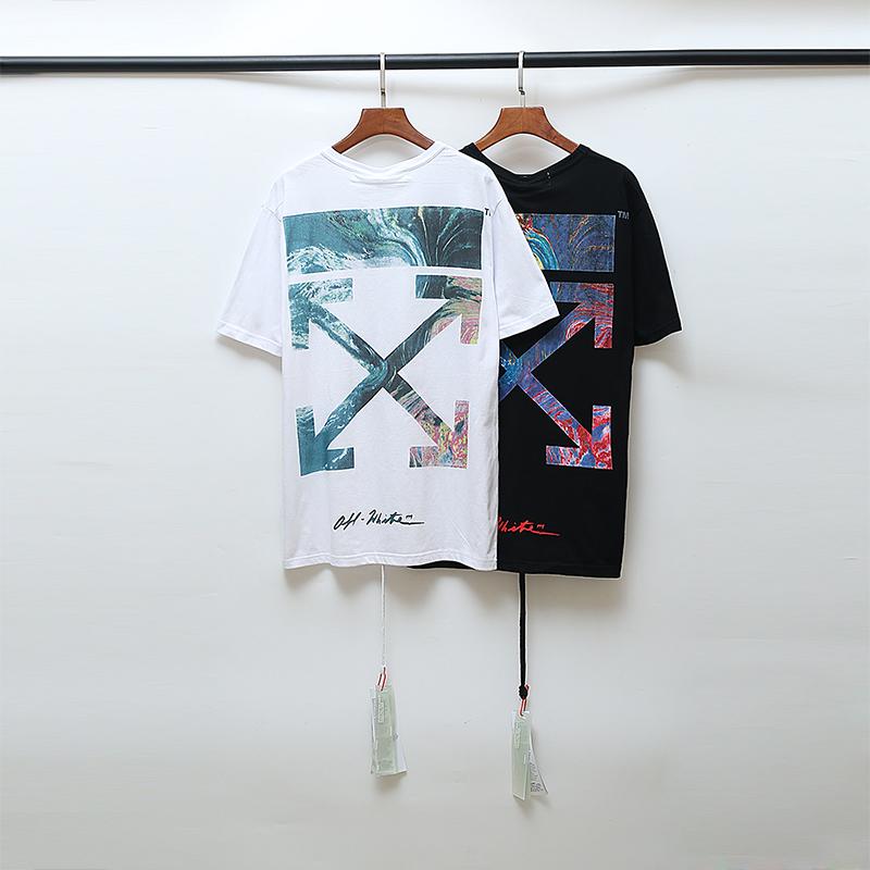 New OFF WHITE Graffiti Print Men/'s Short Sleeve T-Shirt Cotton Unisex Tee