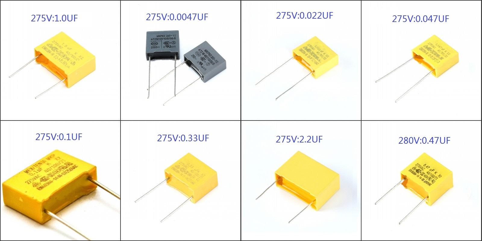 0.047uF 47nF XRY GPF Safety Suppression Capacitors MPX//MKP X2 275VAC