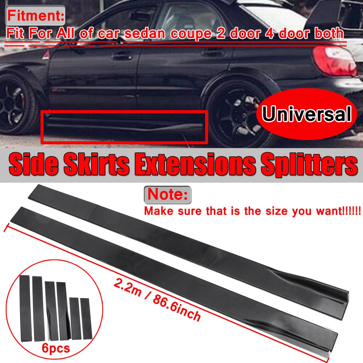 86.6/'/' Side Skirts Extension Rocker Panel For Mercedes Benz W205 W204 W212 W117