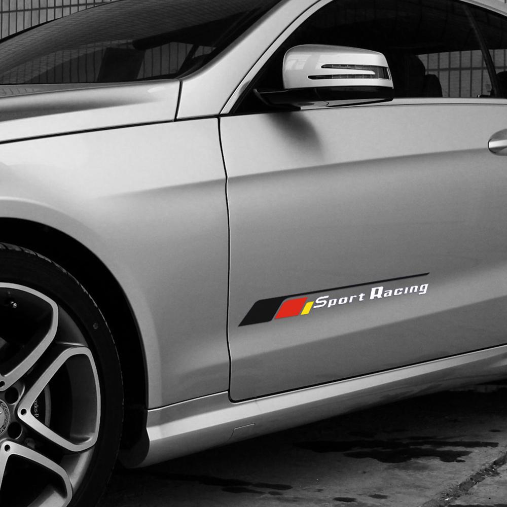 Hood Vinyl Decals Car Stickers Sport Decoration For Mercedes Benz AMG White