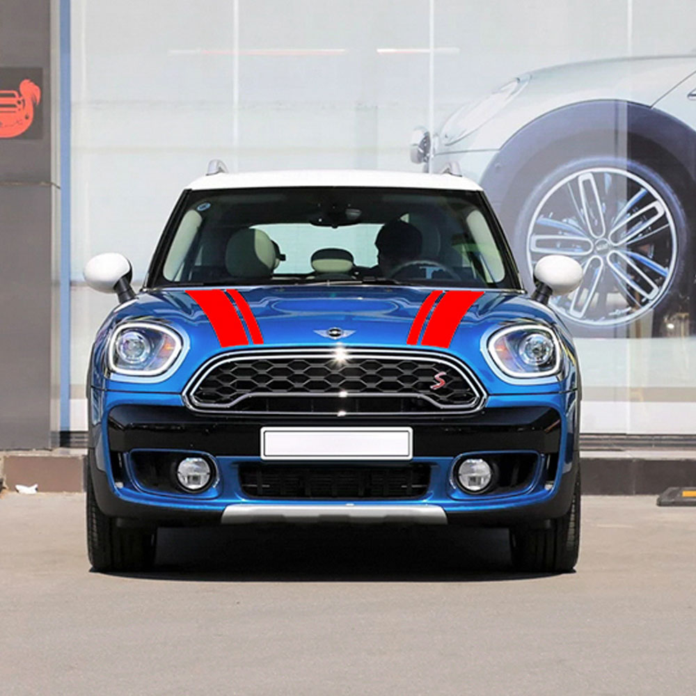 Hood Stripes Rear Graphics Decal Stickers For Mini Cooper