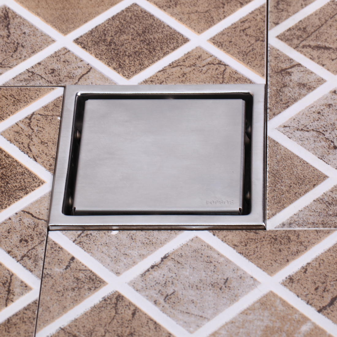 High Quality Steel Bathroom Shower Triangle Tile Insert Floor Square Floor Drain