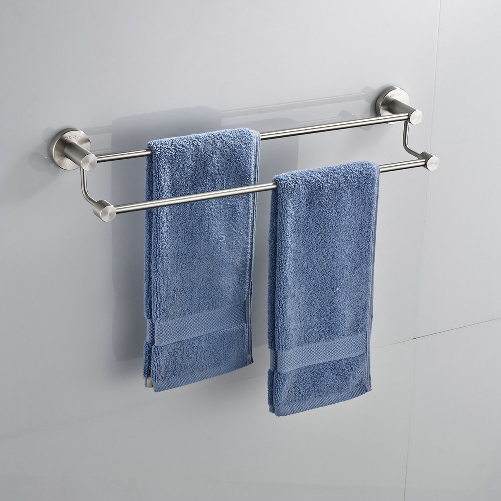 Bathroom Stainless Steel Rack Towel Rail Holder Storage Shelf ...
