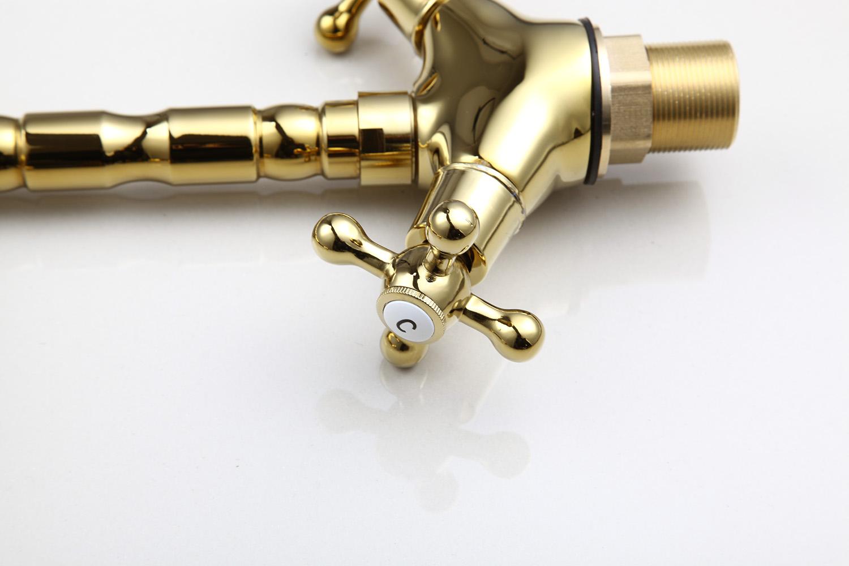 Luxus Gold Badezimmer Schwenk Waschbecken Mischbatterie 2