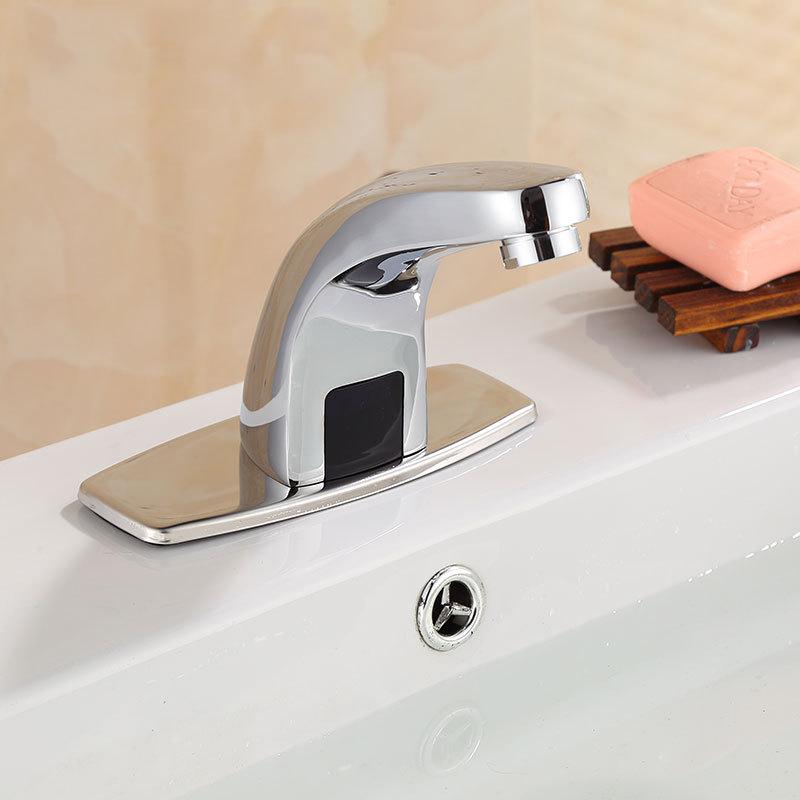 Hands Free Automatic Sensor Bathroom Basin Mixer Brass Faucet Hot ...