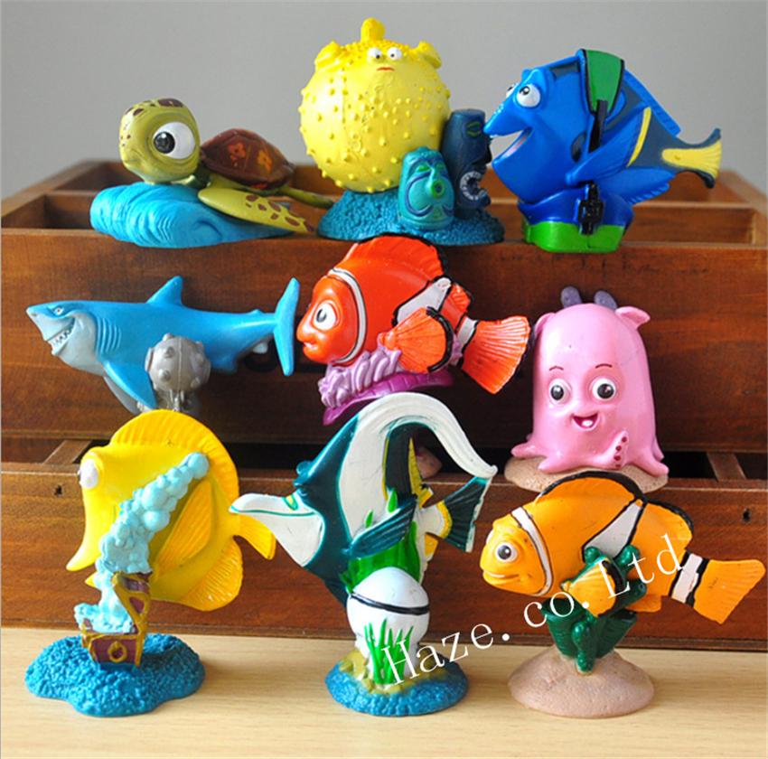 Finding Dory Figure Toy Set of 9pcs Clown Fish Toys Kids Toys Décor ...