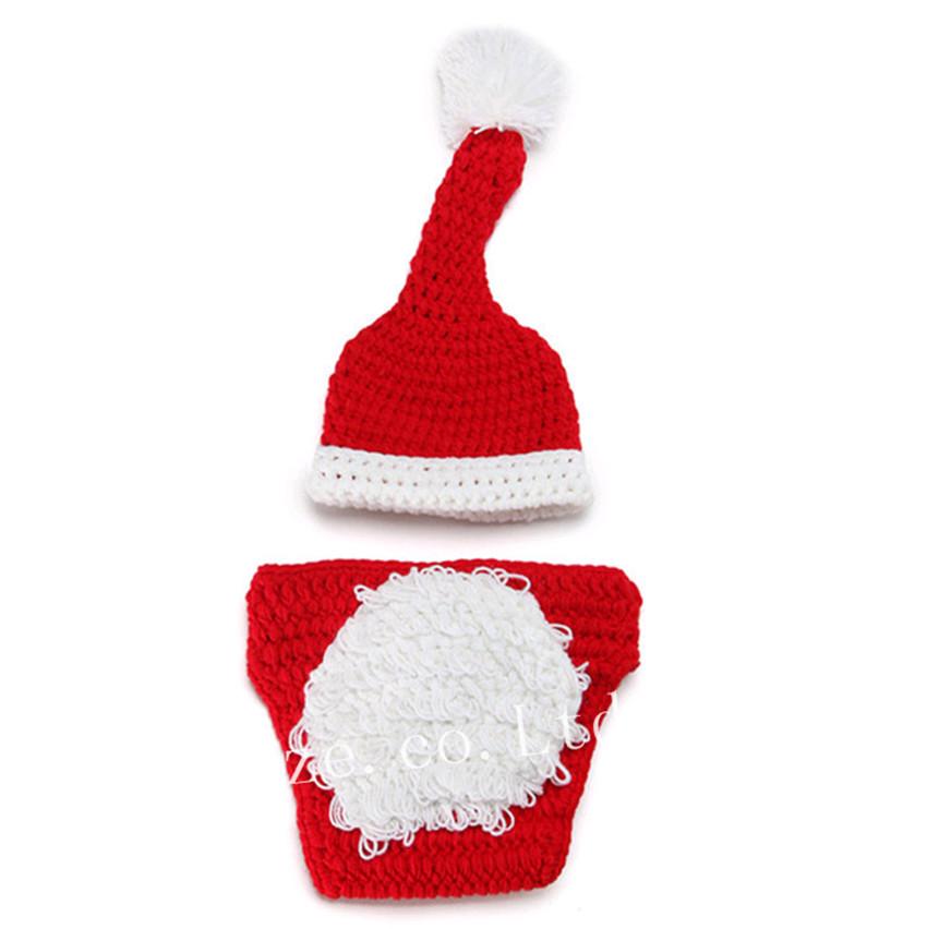 Recién nacido Bebé Navidad Santa Tejer Disfraz Foto Fotografíar   eBay