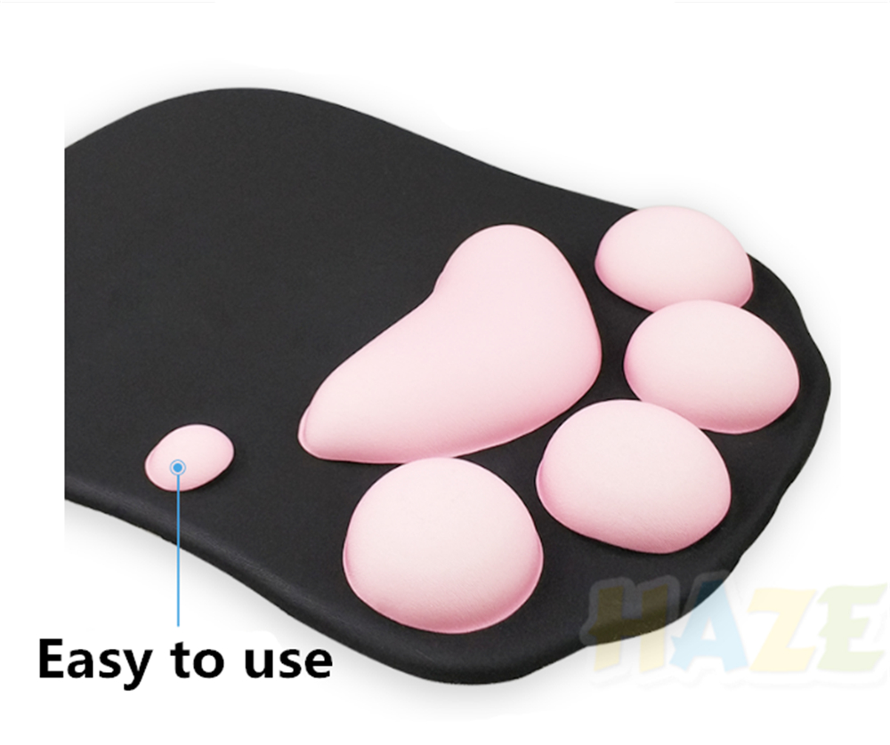 Kawaii Anime Lovely cat/'s paw 3D Holding Mouse Pad Wrist Rests Props Silicone