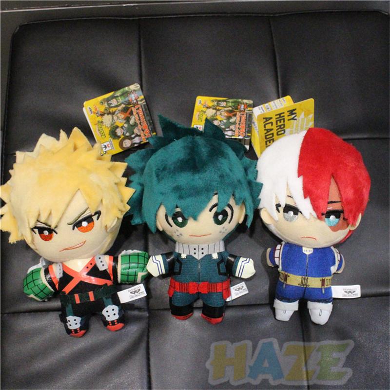 My Hero Academia Midoriya Izuku Bakugou Todoroki Shouto Two side Plush Doll Toy