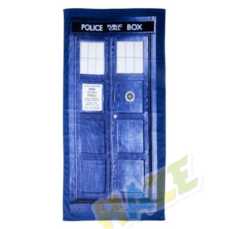 Doctor Who Tardis Door Design Blue Cotton Bath//Beach Towel 100cmX75cm Gift