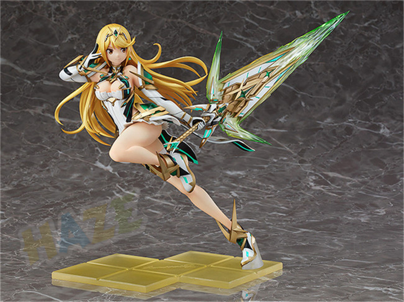 Xenoblade Chronicles 2 Mythra Hikari Pyra Homura Anime Figure Gifts in Box 8.3""