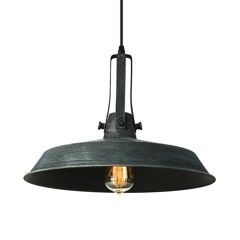 Details About Traditional Loft 16 Wide Led Grey Finished Iron Hanging Pendant Lighting