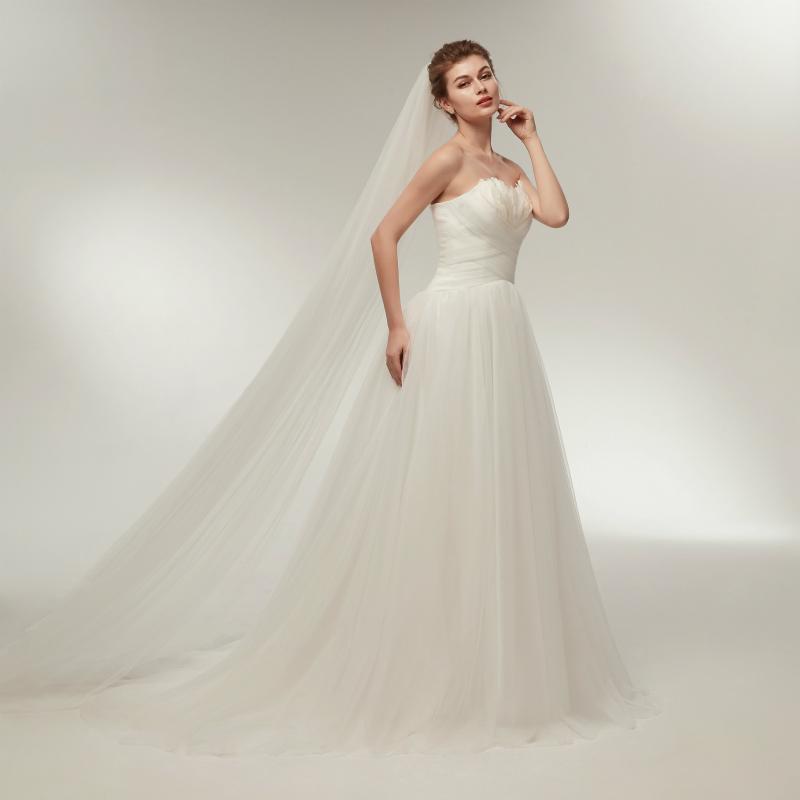2018 Neu A-Linie Brautkleid Partykleider Hochzeitskleid Größe 34 36 ...