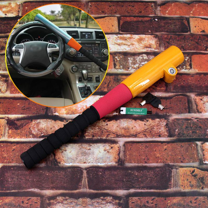 UK T-Rotary Steering Lock Anti Theft Car Crook Wheel Yellow Auto Van Security OO