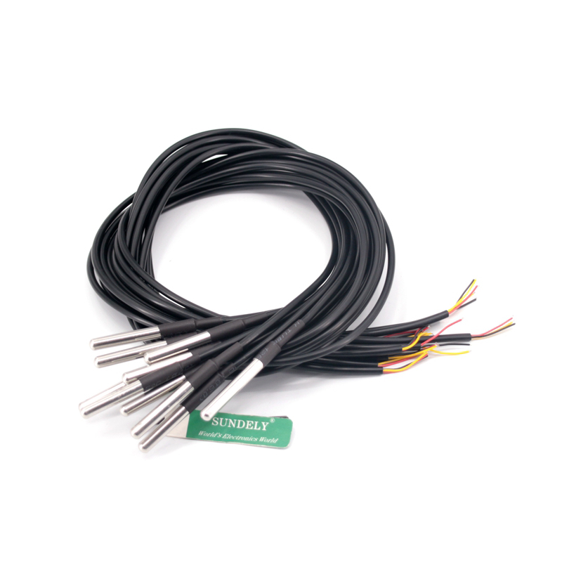 10PCS DS18B20 sonde étanche thermomètre numérique sonde thermique FR