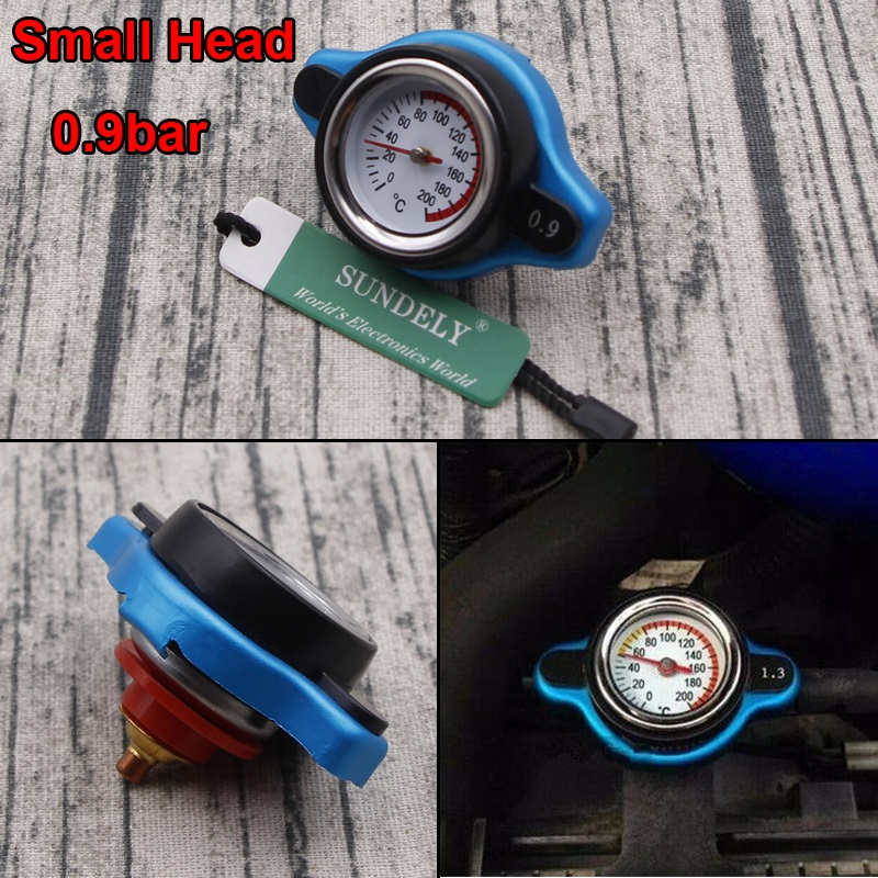 Blue Surface Car SUV 1.1 Bar Thermost Radiator Cap Cover Water Temp Gauge Meter