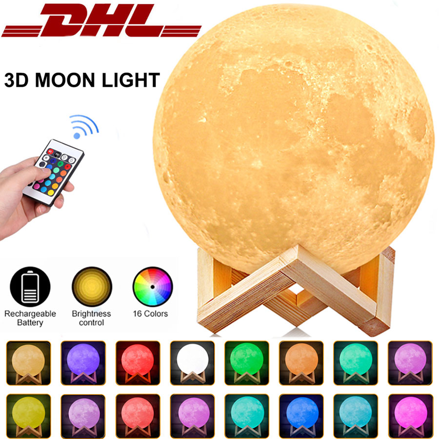 LED Schreibtischlampe Nachttischlampe RGB-Farben Nachtlicht Touch Tischlampe DHL