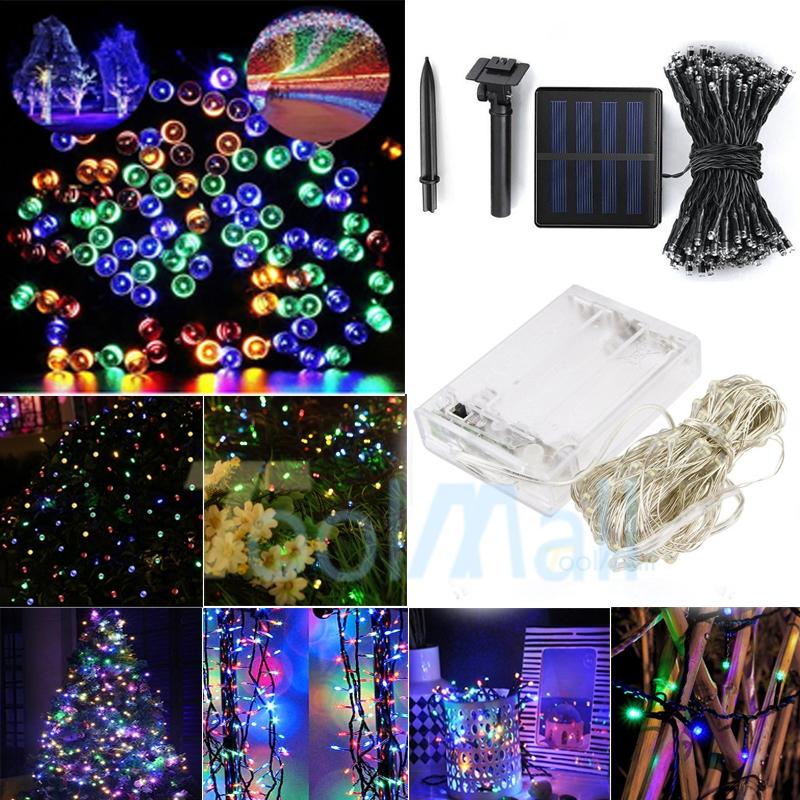 LED Solar Fairy String Light 100//200 Christmas Wedding **With New Battery