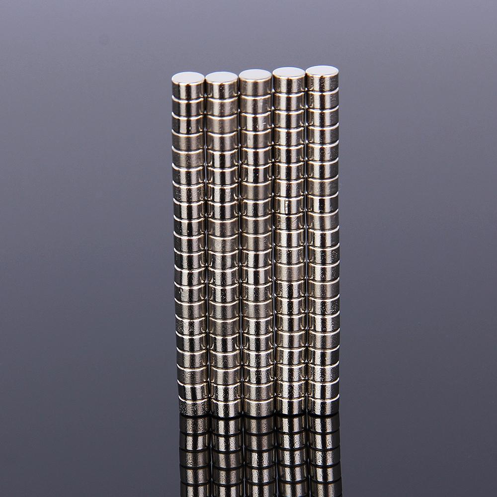 100Stk Neodym Magnete N35 5mm x3mm Extrem starke Scheiben Zylinder Rund Magneten