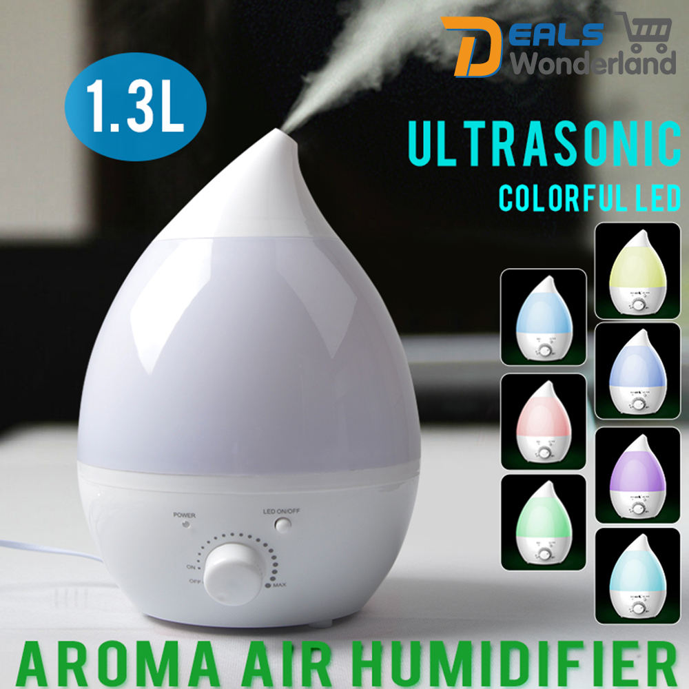 1 3l ultrasonic air humidifier steam aroma diffuser purifier mist brand new 619955191628 ebay - Humidifier l air naturellement ...
