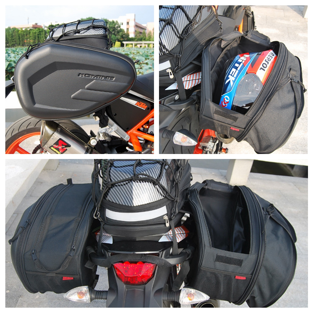 Pair Komine Side Saddle Bag Package Motorcycle Helmet Waterproof 58l