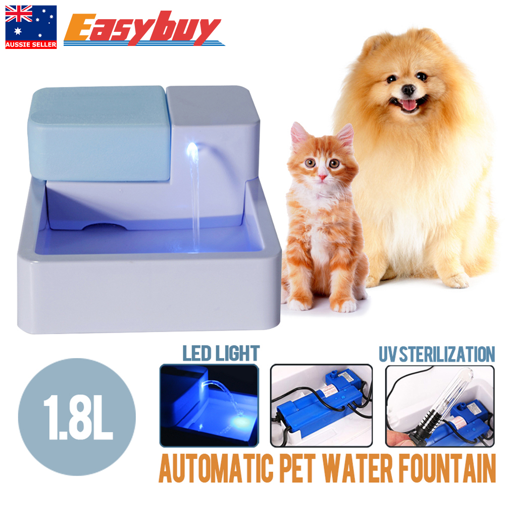 1 8l Automatic Pet Water Drinking Filter Fountain Bowl