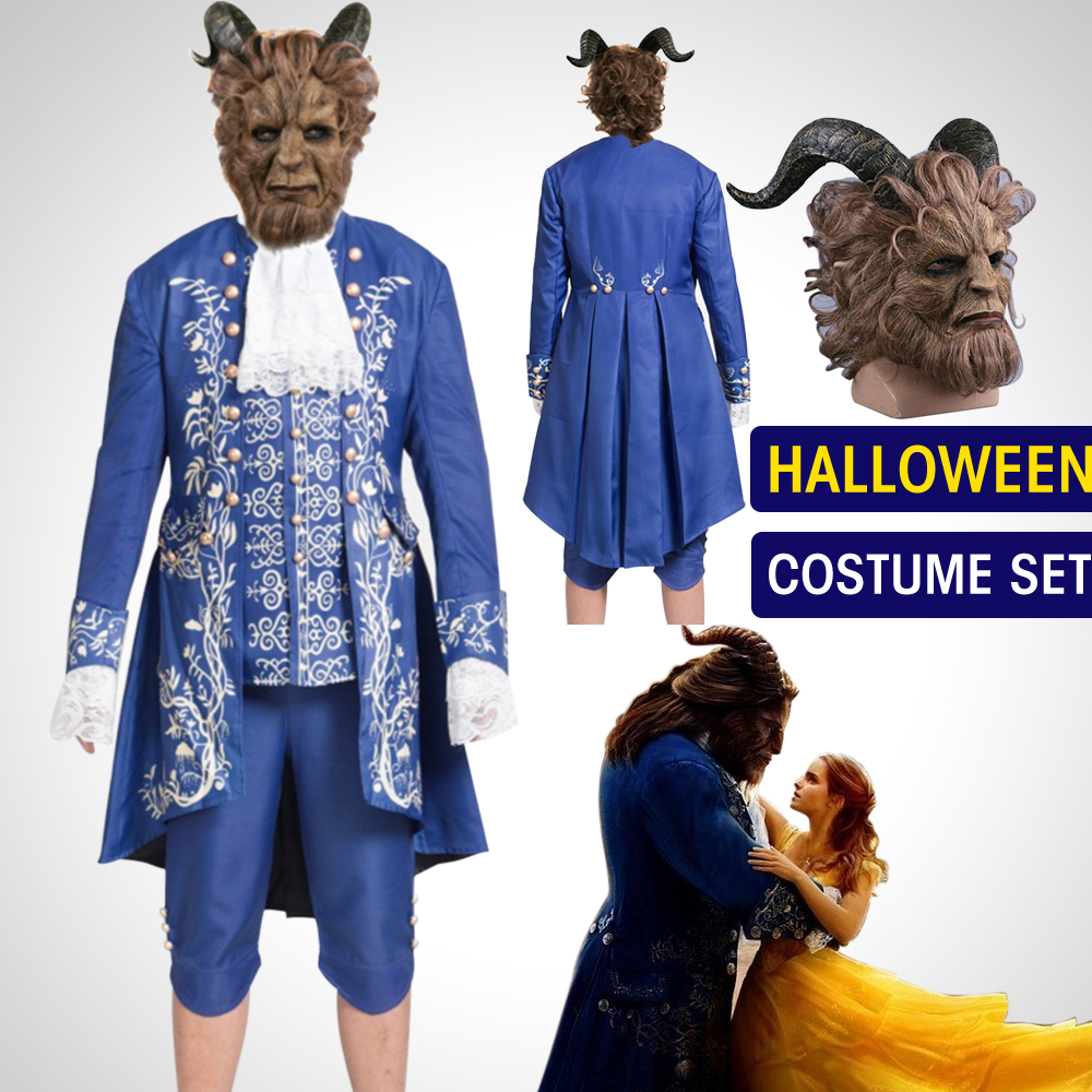 mens beauty and the beast romantic costume cosplay prince