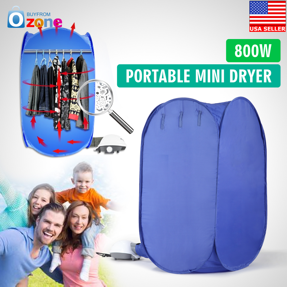 Brand New Air O Dry Mini Portable Electric Clothes Dryer Bag Blue 110v/
