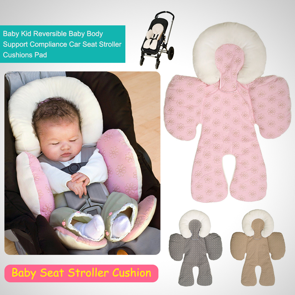 Baby Kid Reversible Body Support Compliance Car Seat Stroller Cushions Pad Description