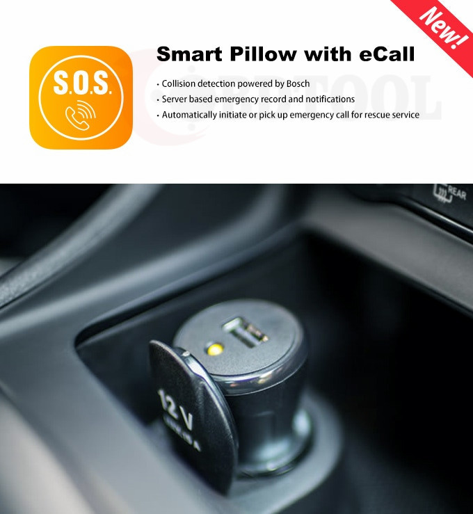 Airbag adjustment Calls Music Driving Record FM Tracebird Smart Pillow For Cars