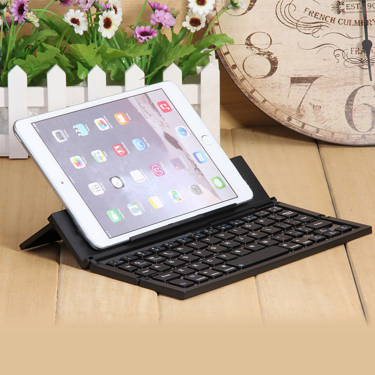 Portable Folding Bluetooth Qwerty Keyboard For Iphone Ipad