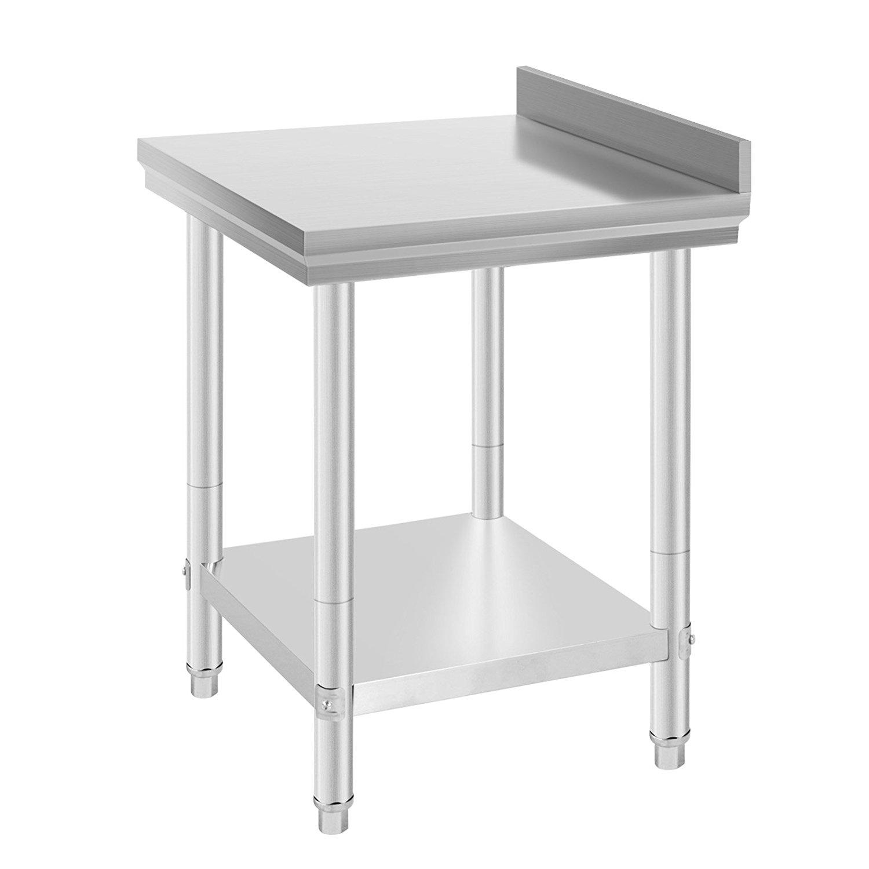 edelstahl arbeitstisch mit aufkantung k chentisch arbeitsplatte de ebay. Black Bedroom Furniture Sets. Home Design Ideas