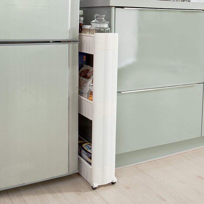 rollwagen korb regel duschregal badwagen kunststoff mit rollen k chen 3schichten ebay. Black Bedroom Furniture Sets. Home Design Ideas
