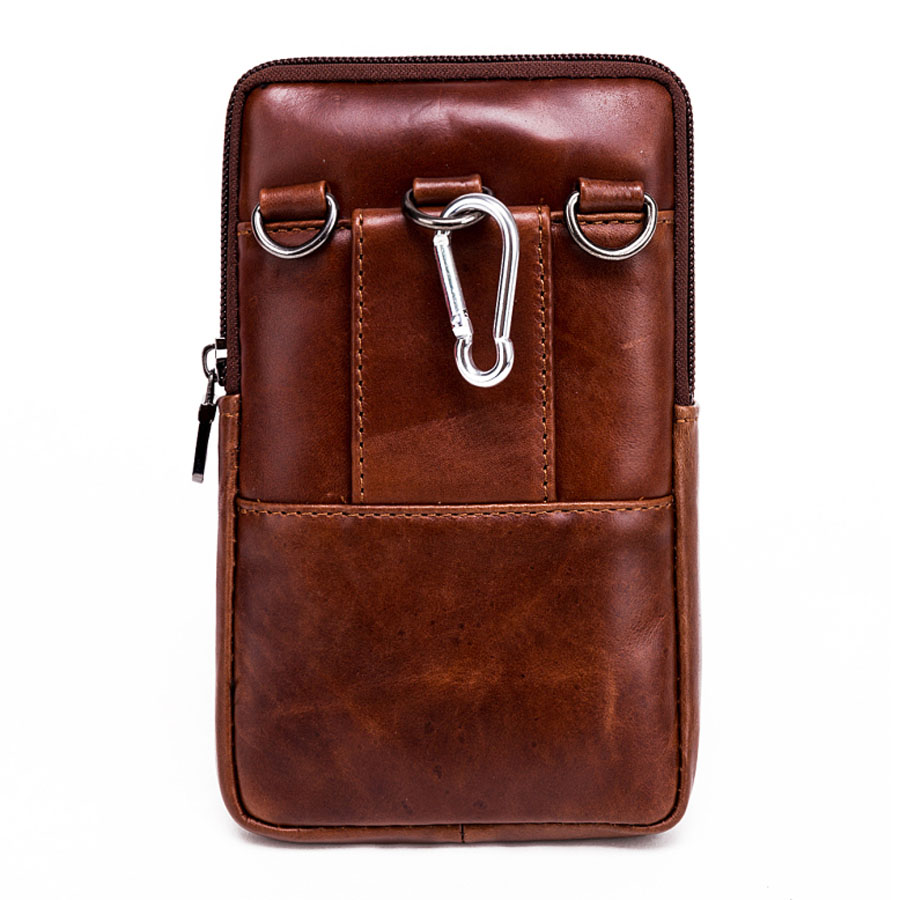 bcce9450888f Men s Genuine Leather Shoulder Messenger Hook Belt Hip Bum Fanny ...